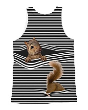 Squirrel striped All-over Unisex Tank back