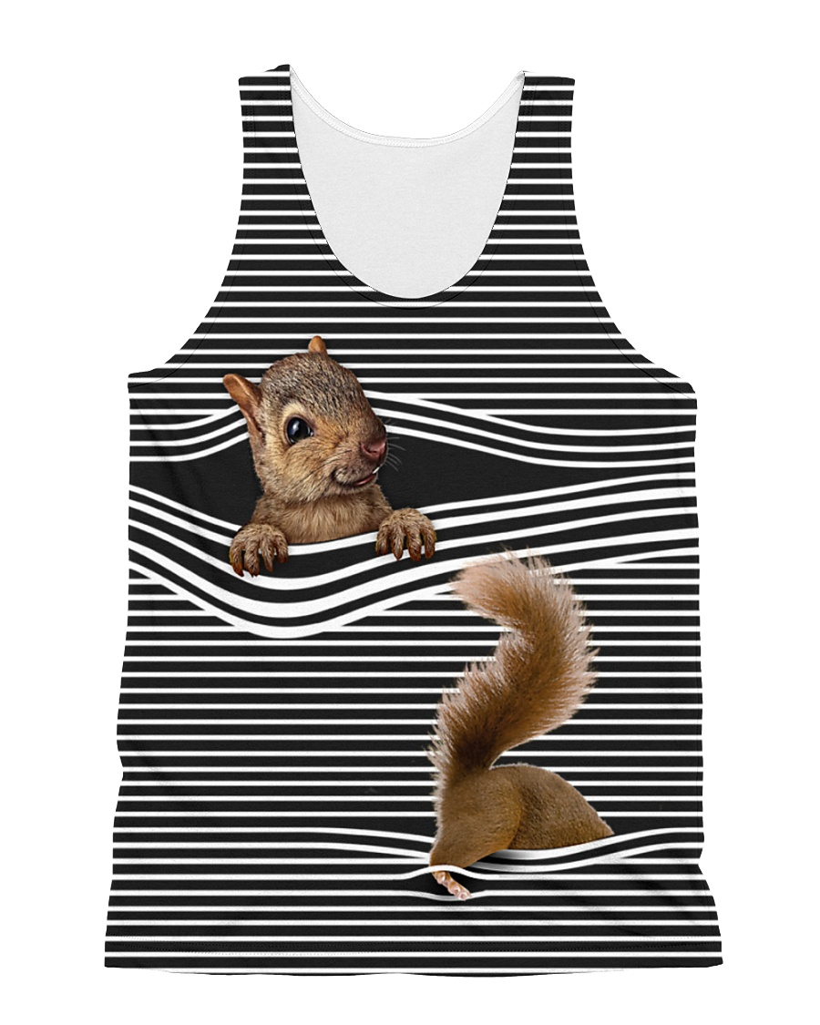 Squirrel striped All-over Unisex Tank