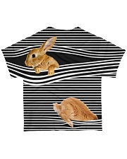 Bunny striped All-over T-Shirt back