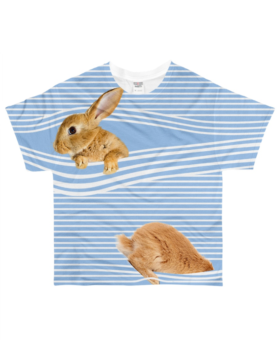 Bunny striped All-over T-Shirt