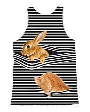 Bunny striped All-over Unisex Tank back