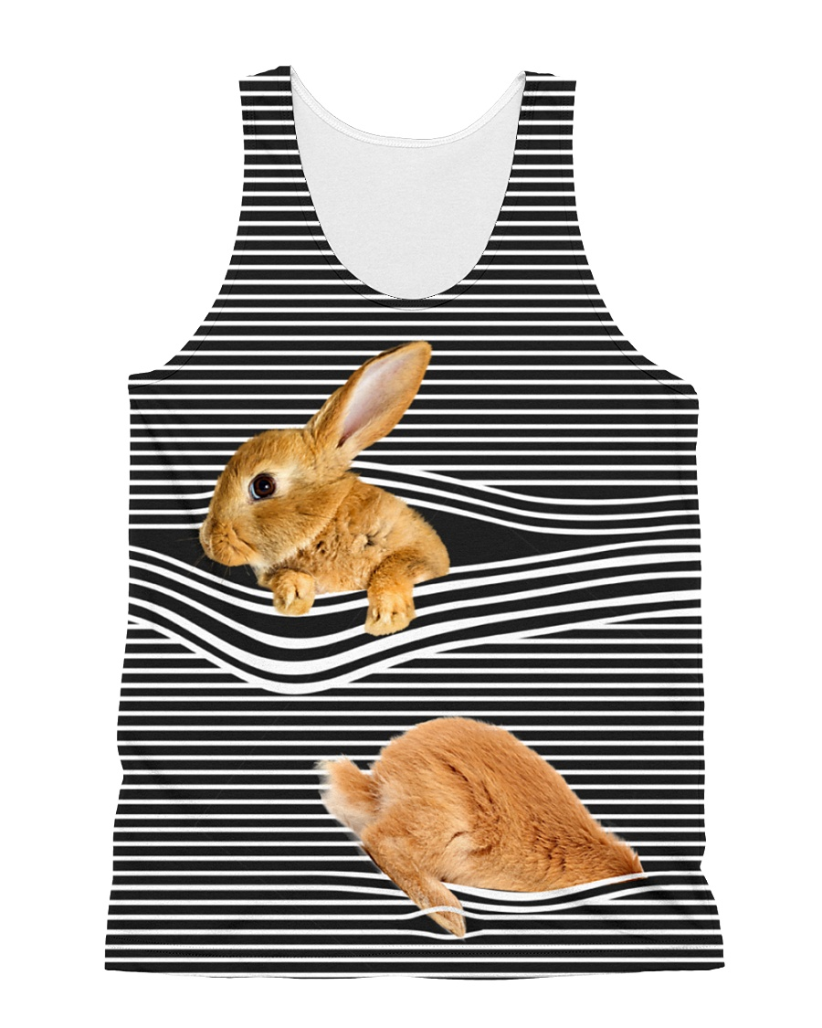 Bunny striped All-over Unisex Tank