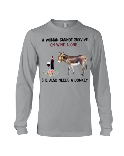 She also needs a donkey