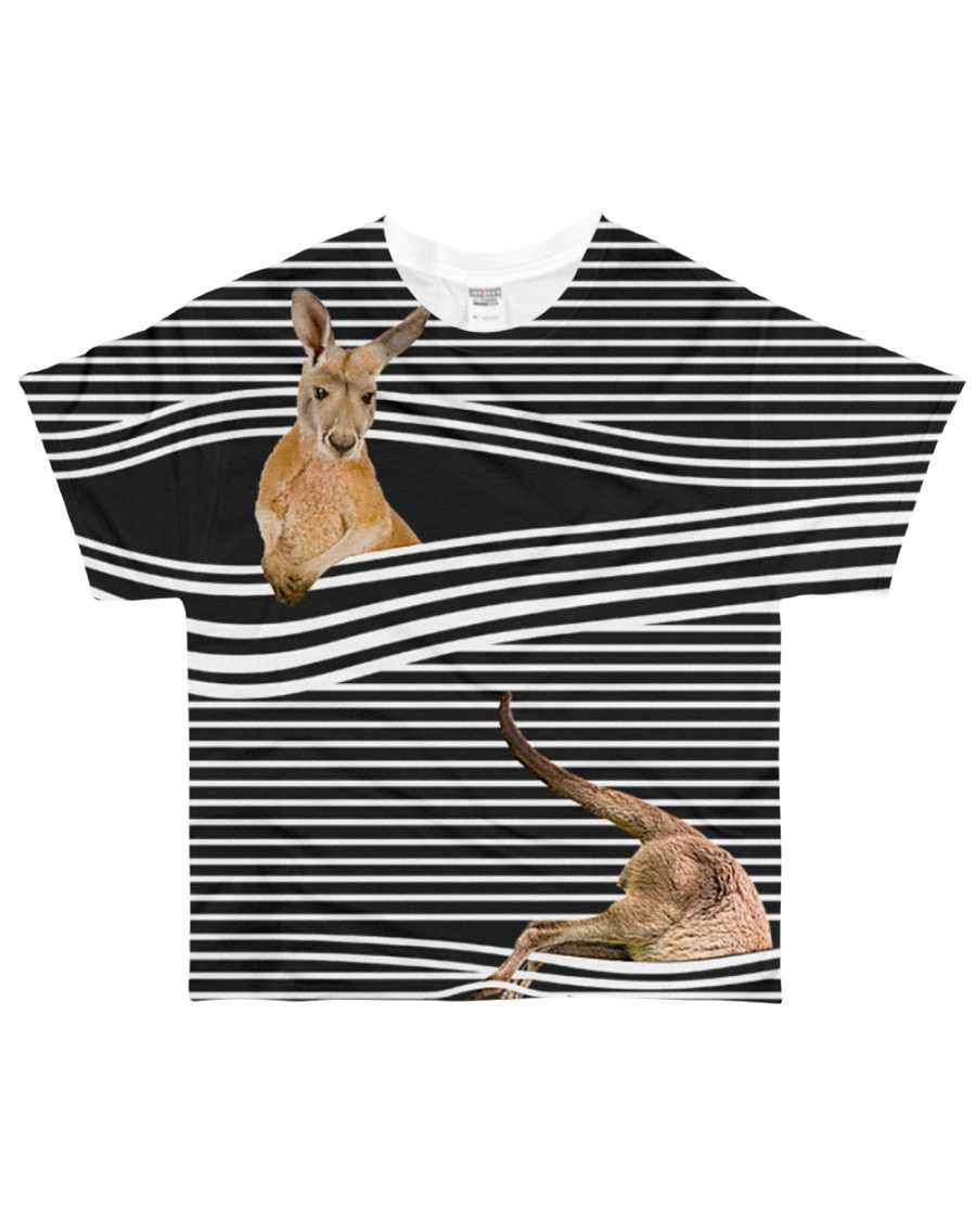 Kangaroo striped All-over T-Shirt