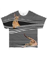 Kangaroo striped All-over T-Shirt front