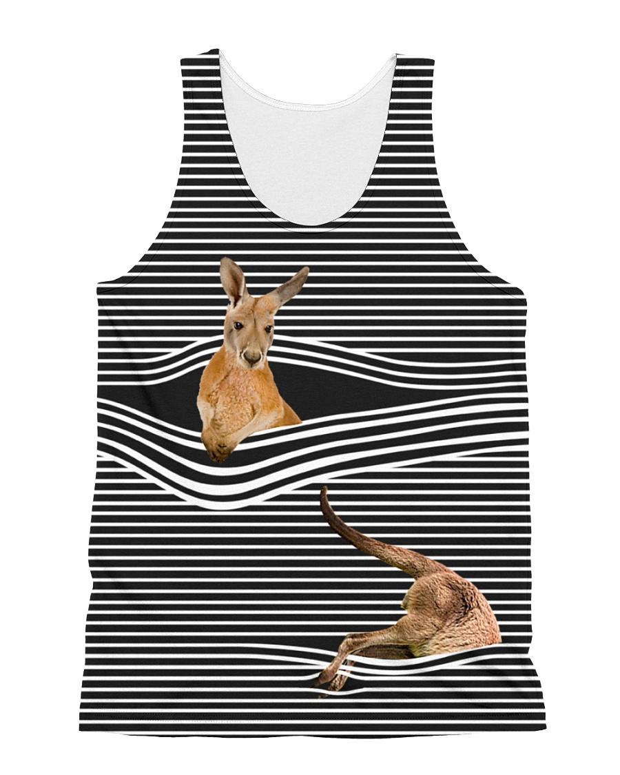 Kangaroo striped All-over Unisex Tank