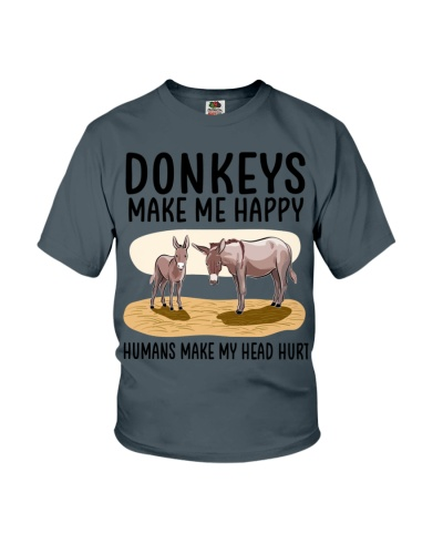 Donkeys make me happy