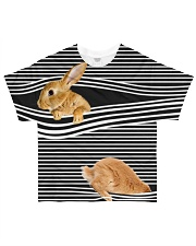 Bunny striped All-over T-Shirt front