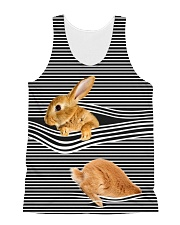 Bunny striped All-over Unisex Tank thumbnail