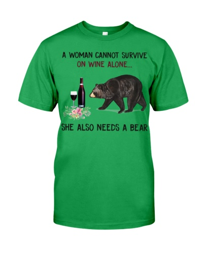 A woman cannot survive on wine alone-Bear