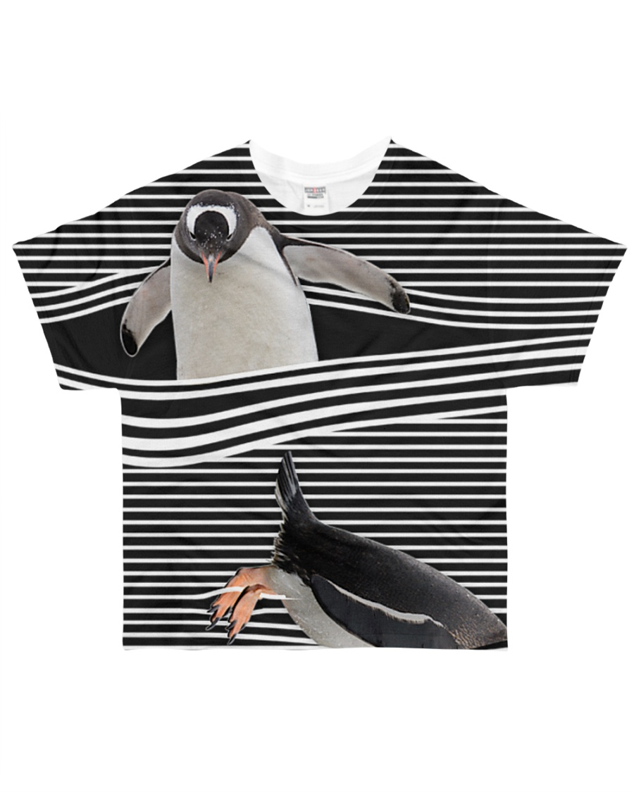 Penguin striped All-over T-Shirt