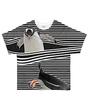 Penguin striped All-over T-Shirt front