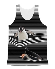 Penguin striped All-over Unisex Tank thumbnail