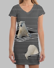 Polar Bear striped All-over Dress aos-dress-front-lifestyle-3