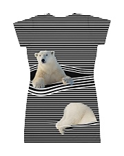 Polar Bear striped All-over Dress back