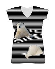 Polar Bear striped All-over Dress thumbnail