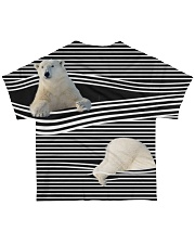 Polar Bear striped All-over T-Shirt back