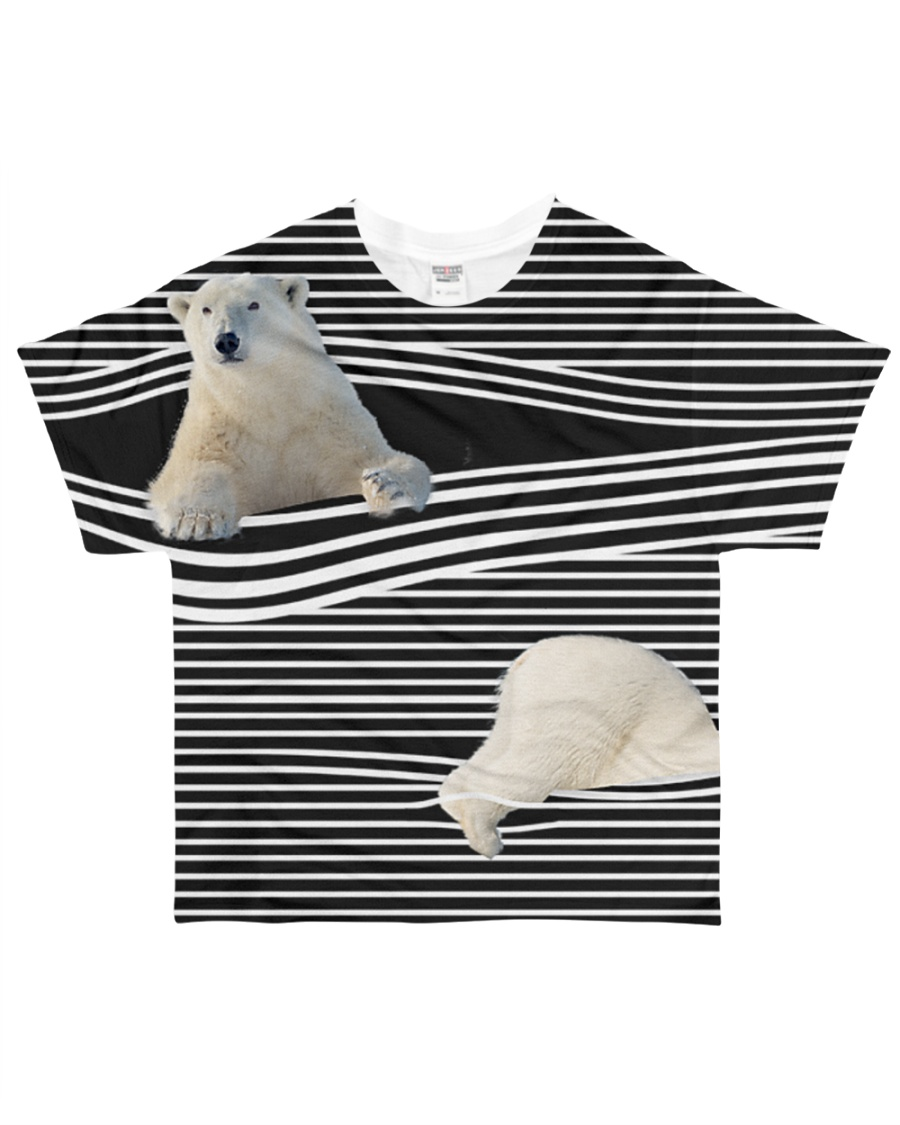 Polar Bear striped All-over T-Shirt