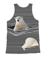 Polar Bear striped All-over Unisex Tank back