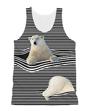 Polar Bear striped All-Over Unisex Tank tile