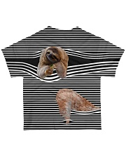 Sloth striped All-over T-Shirt back