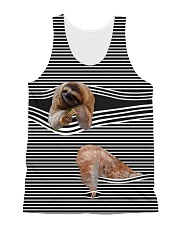 Sloth striped All-over Unisex Tank thumbnail