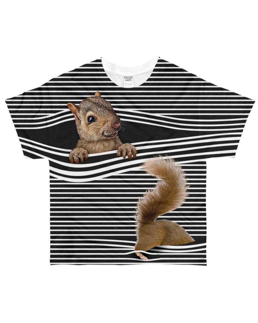 Squirrel striped All-over T-Shirt