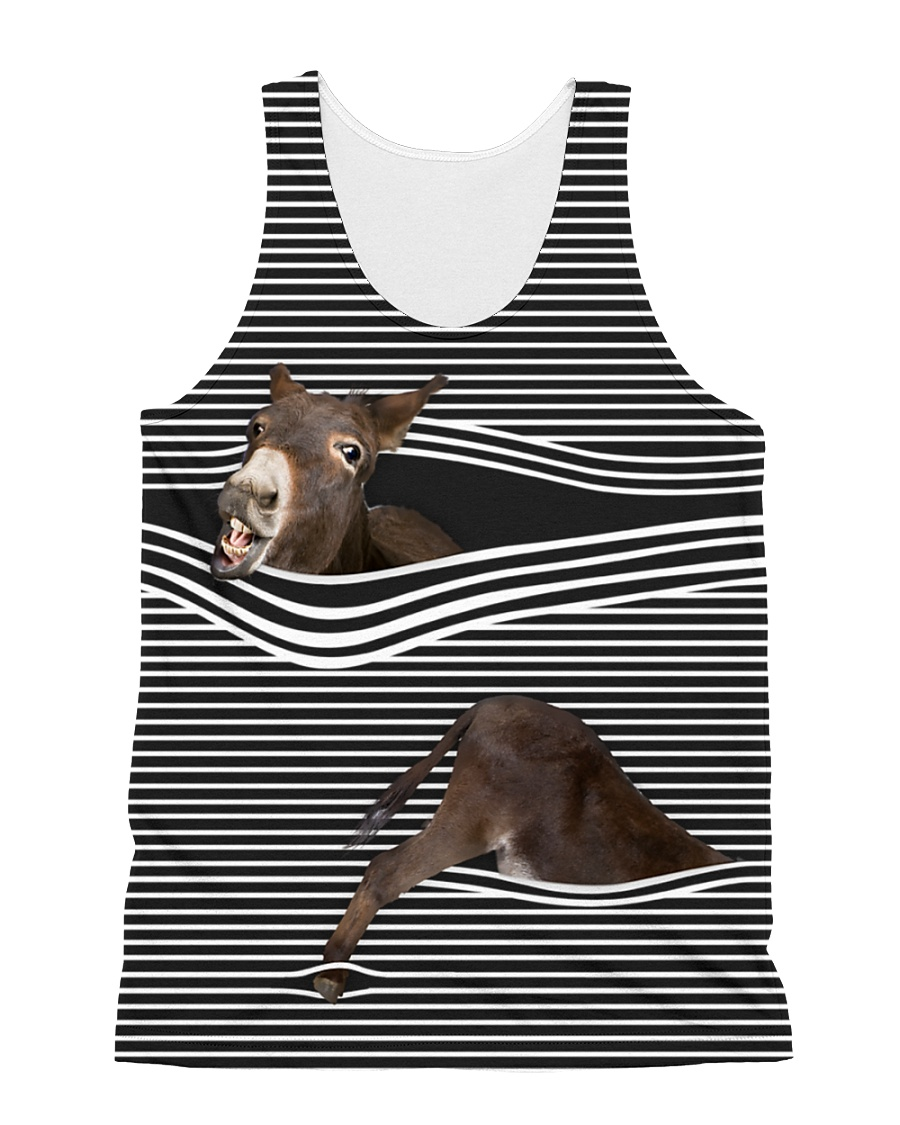 Donkey striped All-over Unisex Tank