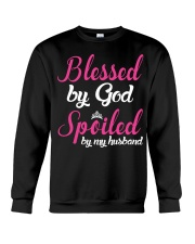Blessed By God Spoiled By My Husband Crewneck Sweatshirt thumbnail