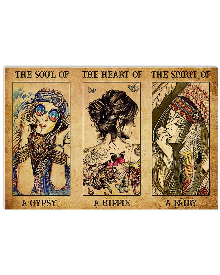 Hippie Girl The soul of a gypsy the heart of a hippie the spirit of a fairy poster