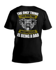 THE ONLY THING I LOVE MORE THAN MOTORCYCLES IS DAD V-Neck T-Shirt thumbnail