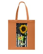American Sun Flower'n Boots  Tote Bag thumbnail