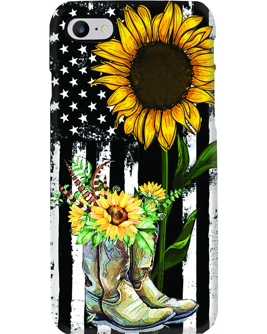 American Sun Flower'n Boots  Phone Case