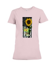 American Sun Flower'n Boots  Premium Fit Ladies Tee thumbnail