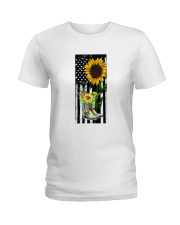 American Sun Flower'n Boots  Ladies T-Shirt thumbnail