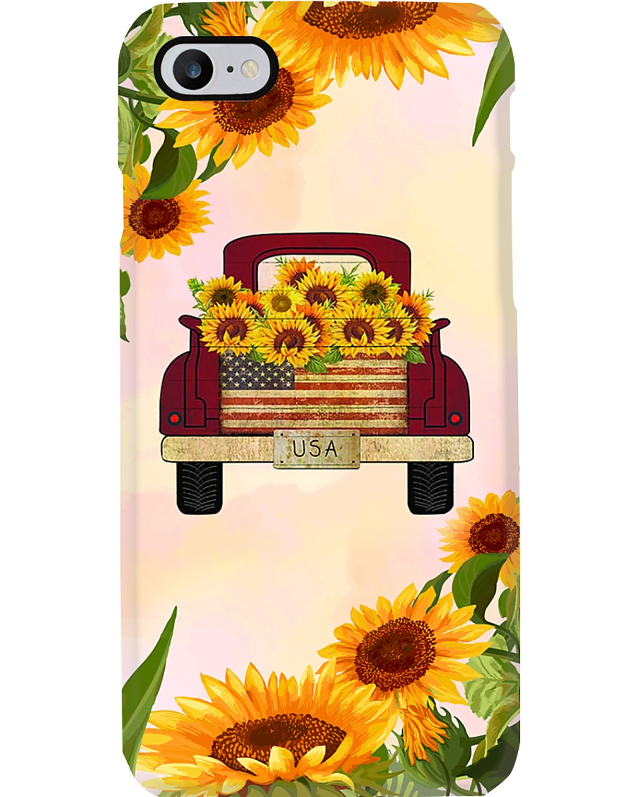 SunFlower'n Truck USA Phone Case