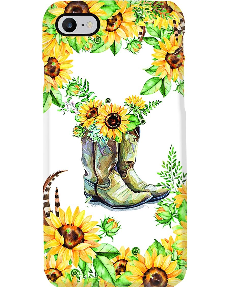SunFlower'n Boots Vintage Phone Case