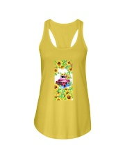 SunFlower'n Car Truck Ladies Flowy Tank tile