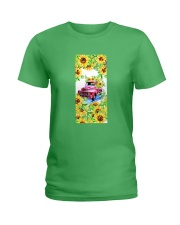 SunFlower'n Car Truck Ladies T-Shirt tile