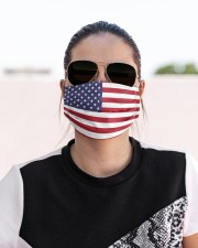 Independence Day Mask USA Flags Cloth face mask aos-face-mask-lifestyle-02