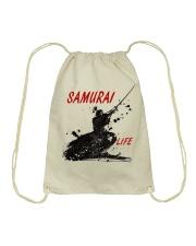 Samurai for life Drawstring Bag thumbnail