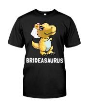 Dinosaur Bride a Saurus Wedding Gift Shirt Classic T-Shirt front