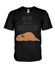Guinea Pig Pun Waiting For The  V-Neck T-Shirt thumbnail