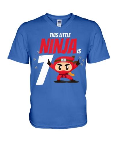 Kids 7th Birthday Boys Ninja Martial Art