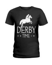 Derby Time Horse Racing T-Shirt Ladies T-Shirt thumbnail