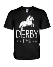 Derby Time Horse Racing T-Shirt V-Neck T-Shirt thumbnail