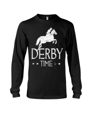 Derby Time Horse Racing T-Shirt Long Sleeve Tee thumbnail