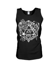 Role Playing Dungeons Gift Shirt Dice Art D Unisex Tank thumbnail