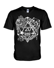Role Playing Dungeons Gift Shirt Dice Art D V-Neck T-Shirt thumbnail