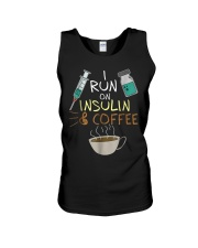 I run on Insulin and Coffee Cup S Unisex Tank thumbnail